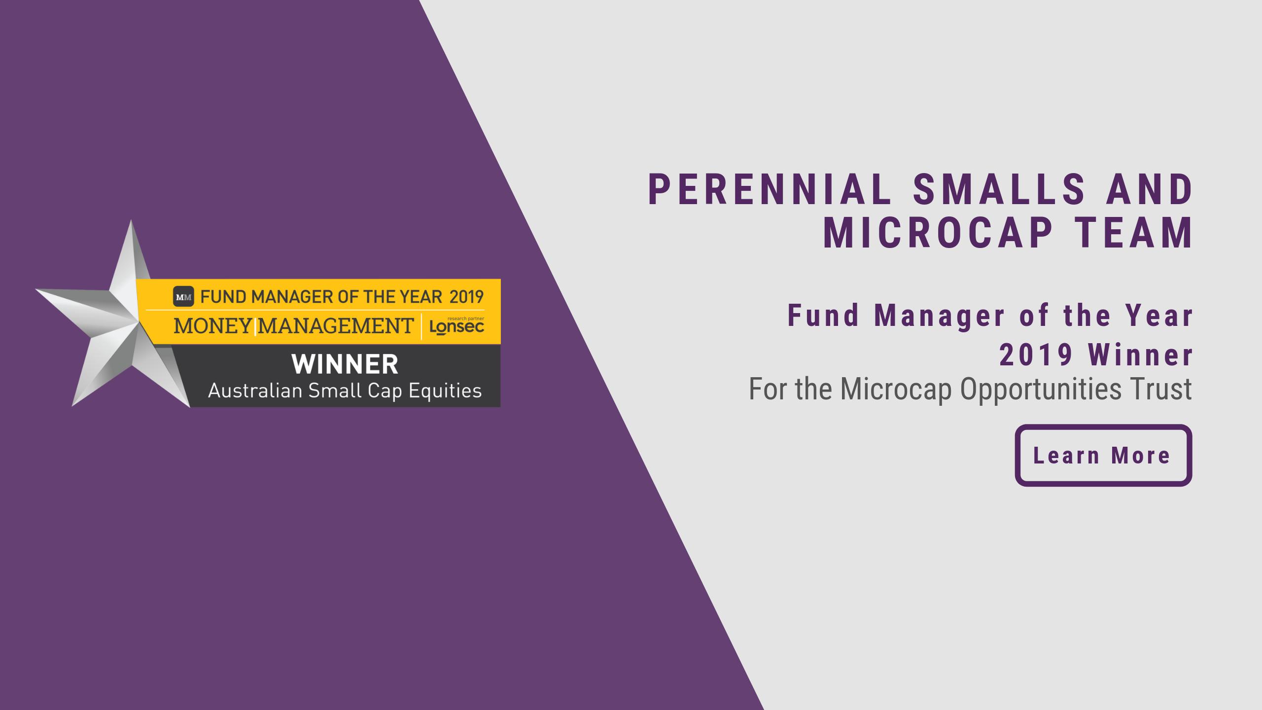 Smalls & Micros Award
